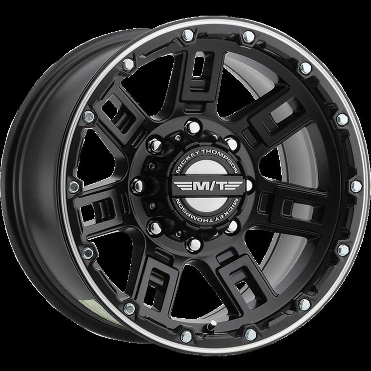 M/T Wheels Sidebiter Lock Satin Black