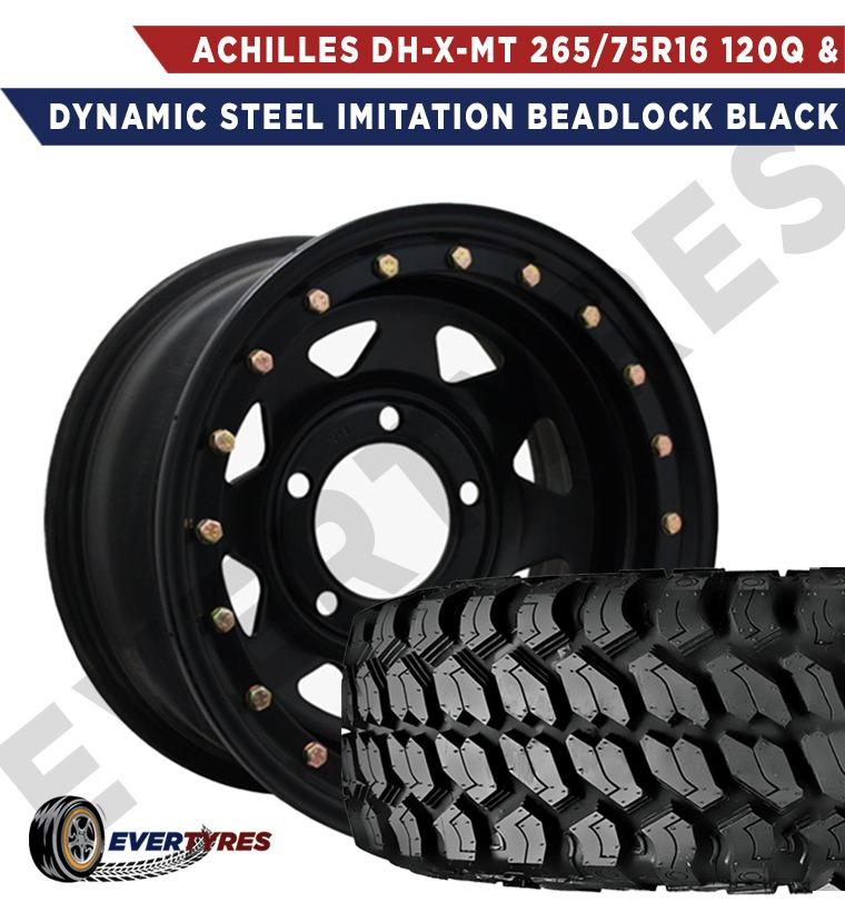 Achilles DH-X-MT 265/75R16 120Q and Dynamic Steel Imitation Beadlock Black