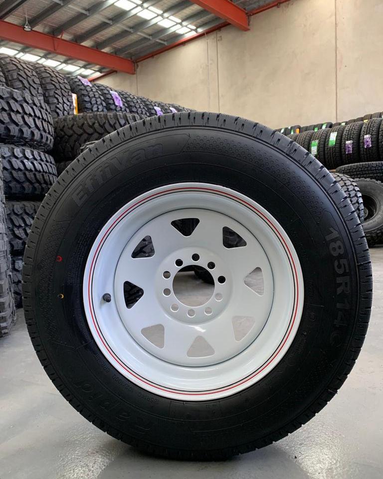 LT185R14C & Dynamic Steel Wheels