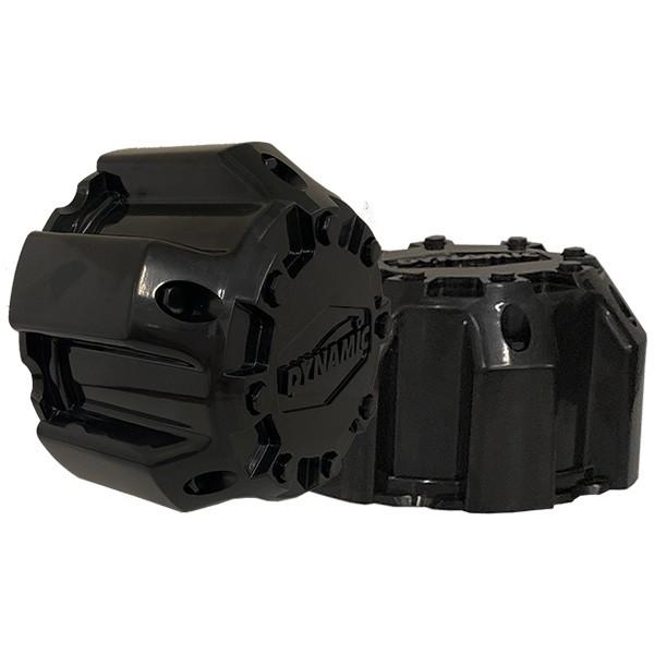 5x150 Steel Wheel Cap Gloss Black (2 Piece) LONG