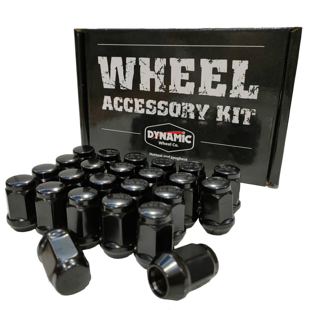 12x1.25 35mm Long 21mm HEX Black Acorn (24Pack)