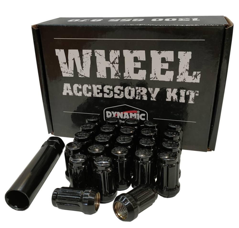 12x1.25 38mm Long SPLINE Black (24+Key Pack)