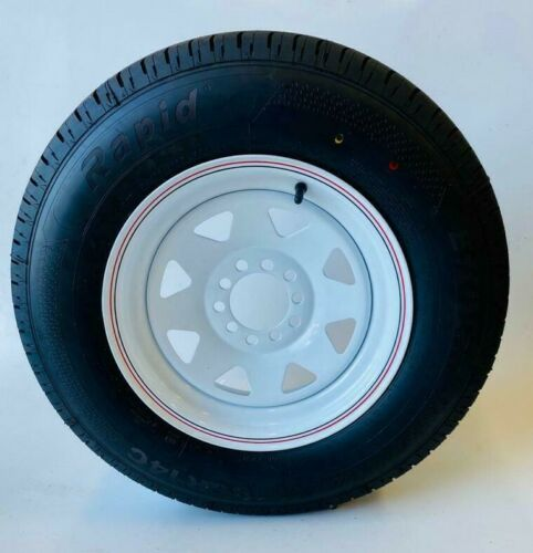 LT Commercial Tyres With  White Steel Wheel For Trailer & Caravan